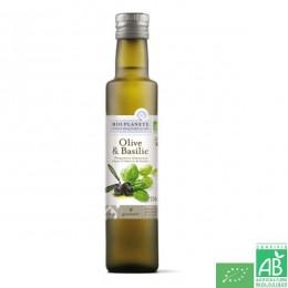 Huile olive et basilic bio planete