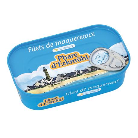 Filets de maquereaux au naturel Le Phare d'Eckmühl