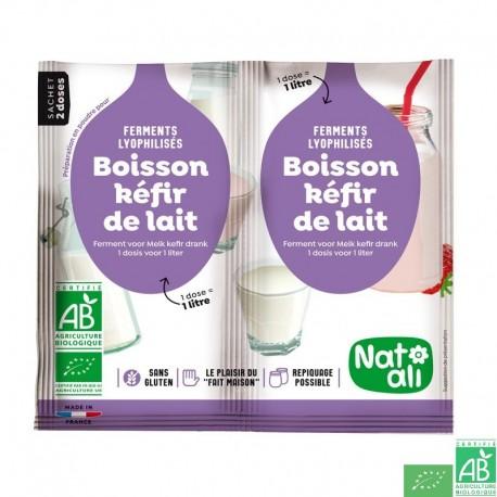 Ferment boisson kefir de lait natali
