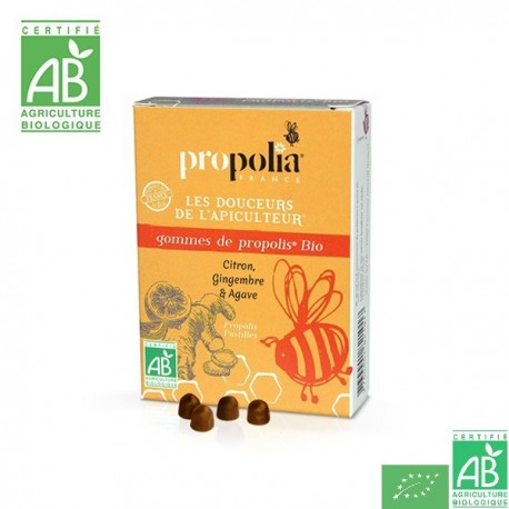 Gommes propolis gingembre propolia