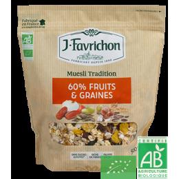 Muesli tradition fruits et graines favrichon