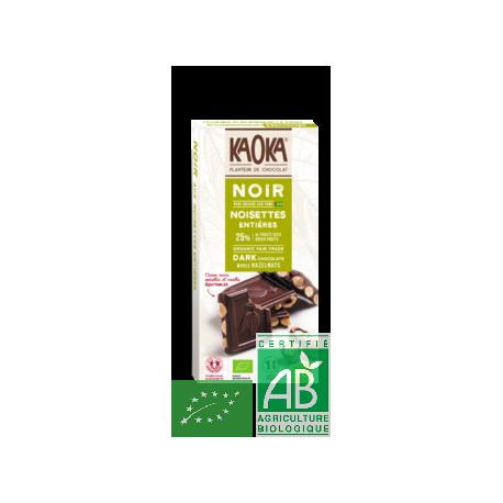 Tablette chocolat noir noisettes 180g kaoka