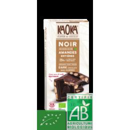 Tablette chocolat noir amandes 180g kaoka
