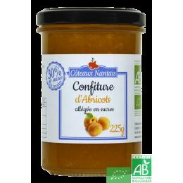 Confiture abricots allégée en sucres 225g coteaux nantais