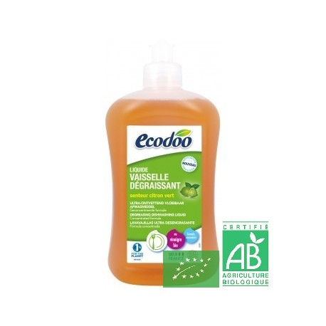 Liquide vaisselle degraissant citron vert ecodoo