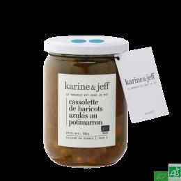 Cassolette de haricots azukis au potimarron karine