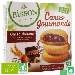 Coeurs gourmands cacao noisette bisson