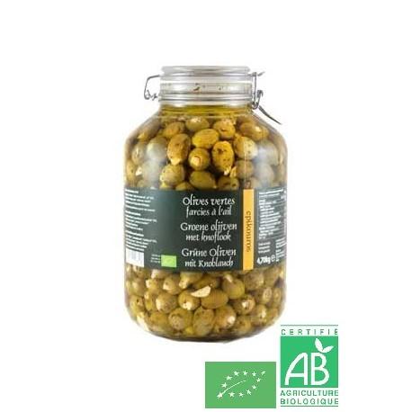 Olive verte ail epikouros
