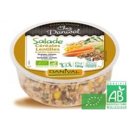 Salade cereales lentilles et petits legumes daniva