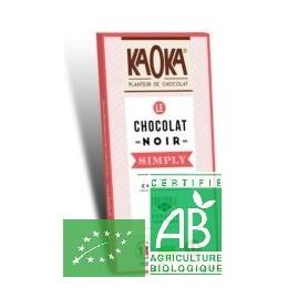 Chocolat noir simply kaoka