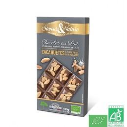 Chocolat au lait cacahuetes saveurs et nature