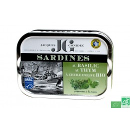 Sardines au basilic au thym et huile d olive jacqu