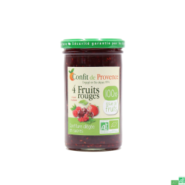 Confiture sans sucre 4 fruits rouges confit de provence