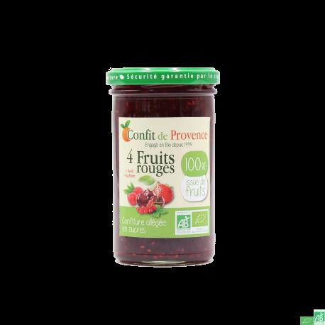Conf sans sucre 4 fruits rouges confit de provence