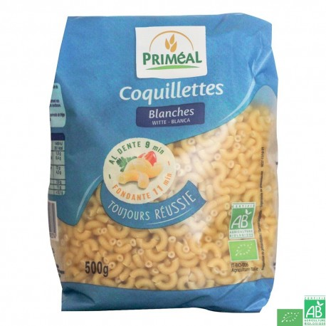 Coquillettes banches 500g primeal