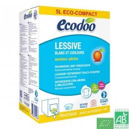 Lessive blanc et couleurs senteur peche bib 5l eco