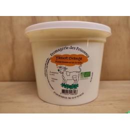 Yaourt orange 500ml gaec des frisonnes
