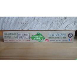 Film alimentaire etirablev3 en 1 compostable 20m chardon vert