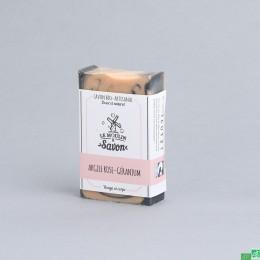 Savon argile rose geranium le moulin a savon