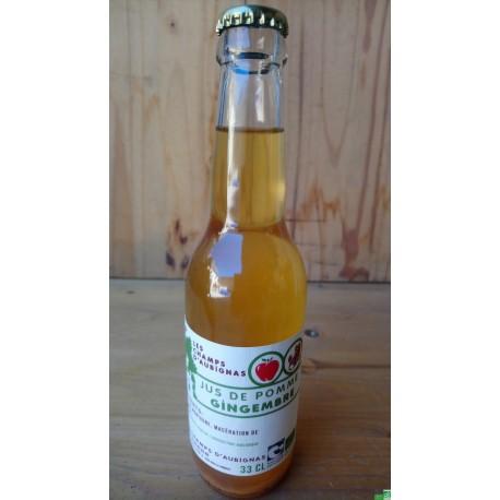 Jus de pomme gingembre les champs d aubignas 33 cl