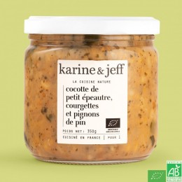 Cocotte de petit epeautre courgettes et pignons de pin karine et jeff