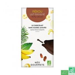 Chocolat lait banane sans sucres ajoutes neogourmets
