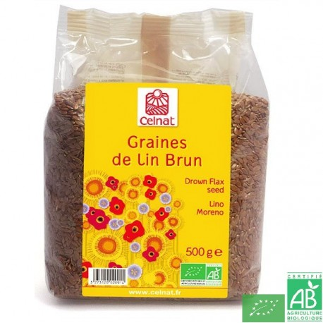 Graines de lin brun celnat