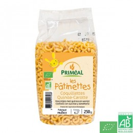 Les Pâtinettes Coquillettes blé et quinoa carotte Priméal