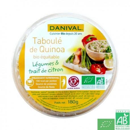 Taboulé quinoa légumes citron Danival