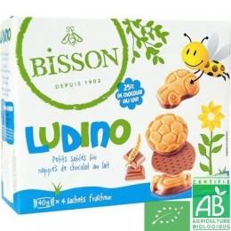 Ludino Petits sablés nappés de chocolat au lait Bisson