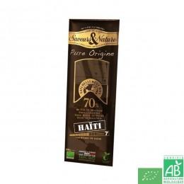 Chocolat noir 70% haiti saveurs et nature
