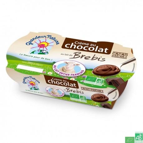Crème au chocolat au lait de brebis grandeur nature