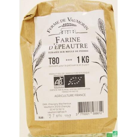 Farine epeautre t80 ferme de vaumorin