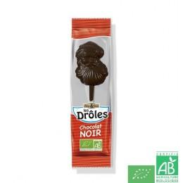 Sucettes pere noel chocolat noir saveurs et natur