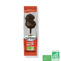 Sucettes pere noel chocolat noir saveurs et nature