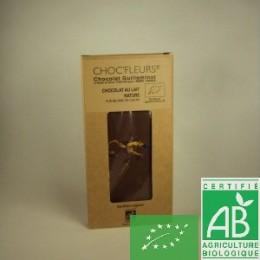 Chocolat au lait nature choc fleurs
