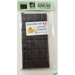 Chocolat noir orange et romarin agnes bio