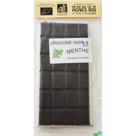 Chocolat noir menthe agnes bio