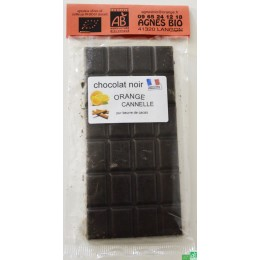Chocolat noir orange cannelle agnes bio