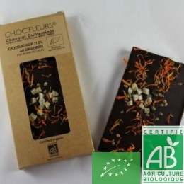 Chocolat noir gingembre choc fleurs