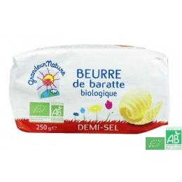 Beurre de baratte demi sel grandeur nature