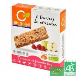 Barres cereales pommes framboisesx6 biosoleil
