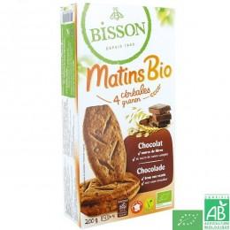 Matins bio 4 céréales chocolat Bisson