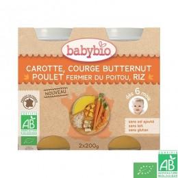 Petit pot carotte butternut poulet babybio
