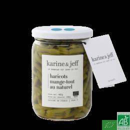 Haricots mange-tout au naturel karine & jeff