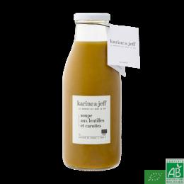 Soupe lentilles carottes 0.5l farine&jeff