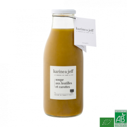 Soupe lentilles carottes 500 ml karine et jeff
