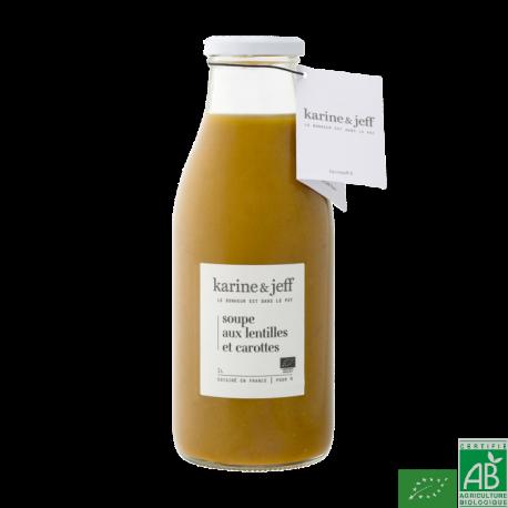 Soupe aux lentilles et carottes karine & jeff