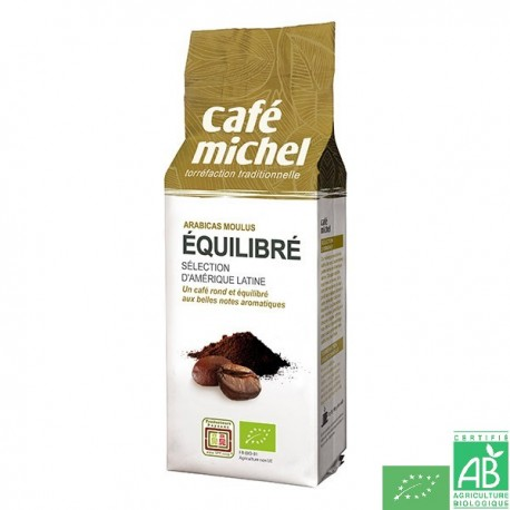 Cafe equilibre moulu 250g cafe michel
