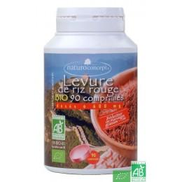 Levure de riz rouge naturo concept